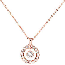 Buy Ted Baker Cadhaa Concentric Swarovski Crystal Round Pendant Necklace Online at johnlewis.com