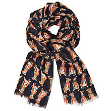 Buy John Lewis Christmas Boxer Dog Print Scarf, Multi Online at johnlewis.com