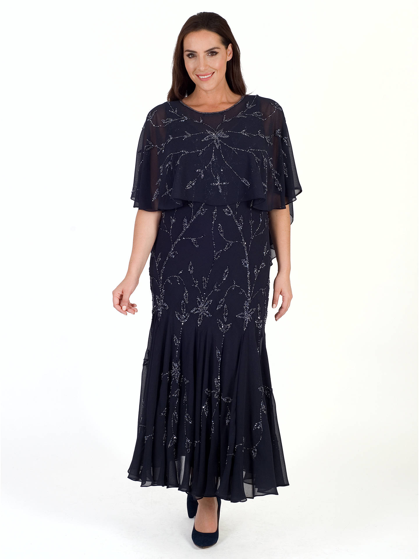 BuyChesca Beaded Cape, Navy Online at johnlewis.com