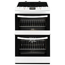 Buy Zanussi ZCV46200WA Double Electric Oven, White Online at johnlewis.com