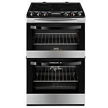 Buy Zanussi ZCV46200XA Double Electric Oven, Stainless Steel Online at johnlewis.com