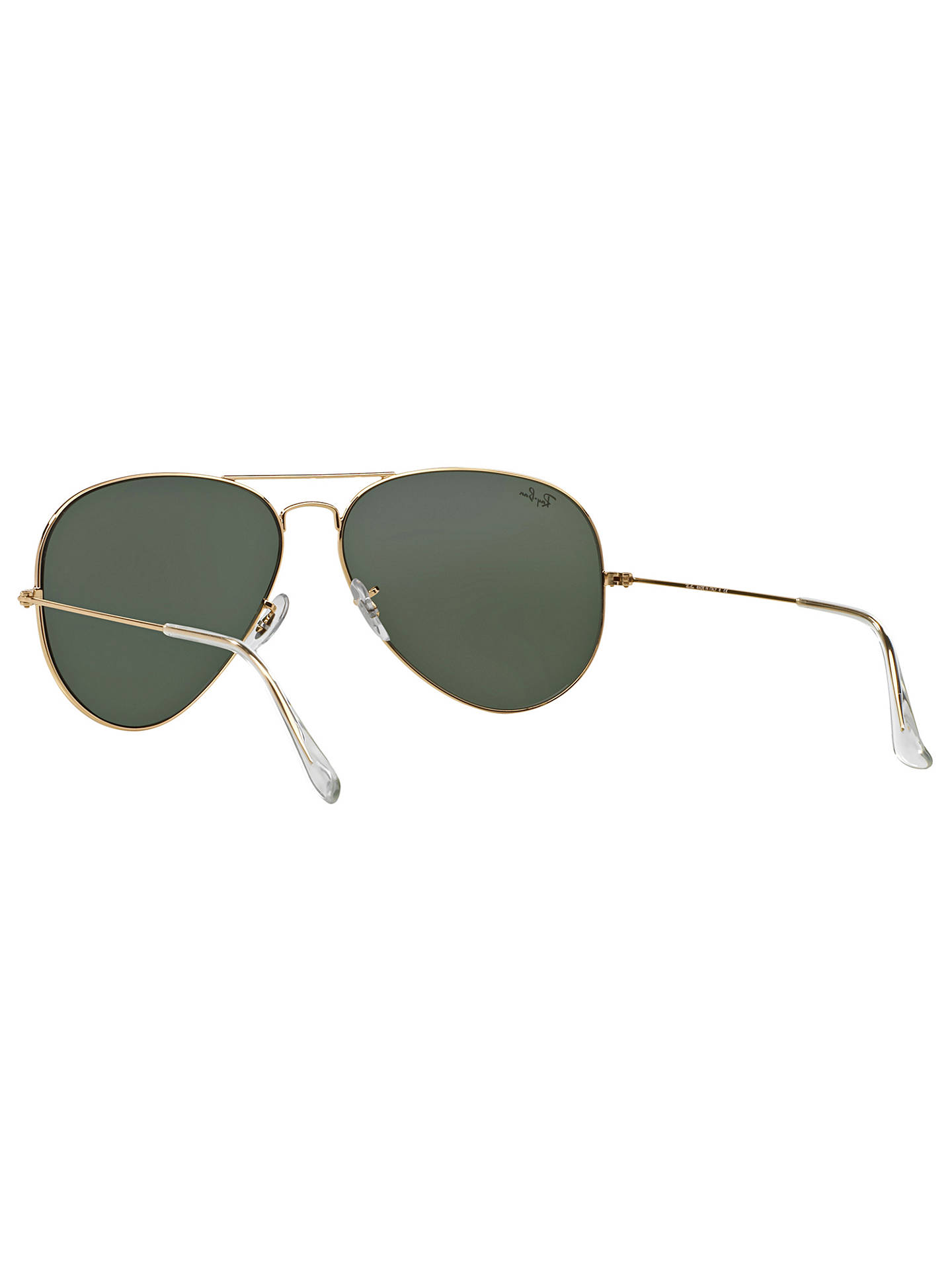BuyRay-Ban RB3025 Aviator Sunglasses, Gold/Dark Green Online at johnlewis.com