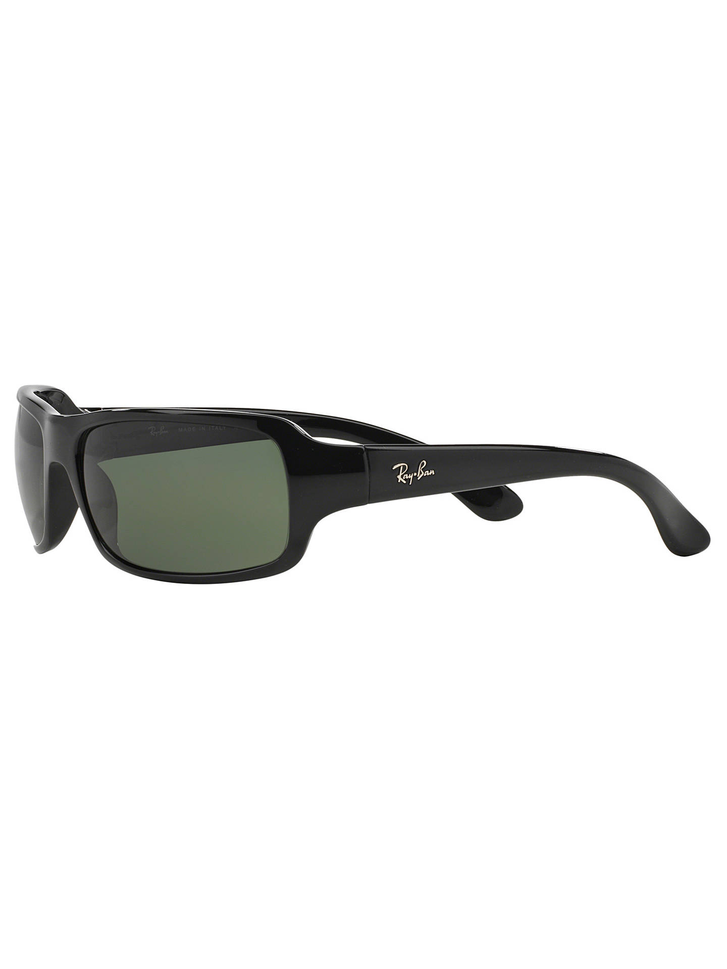 b0844ba005e ... get buyray ban rb4075 polarised rectangular sunglasses black dark green  online at johnlewis. e2368 c7fbe