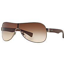 Buy Ray-Ban RB3471 Emma Aviator Sunglasses, Brown Online at johnlewis.com