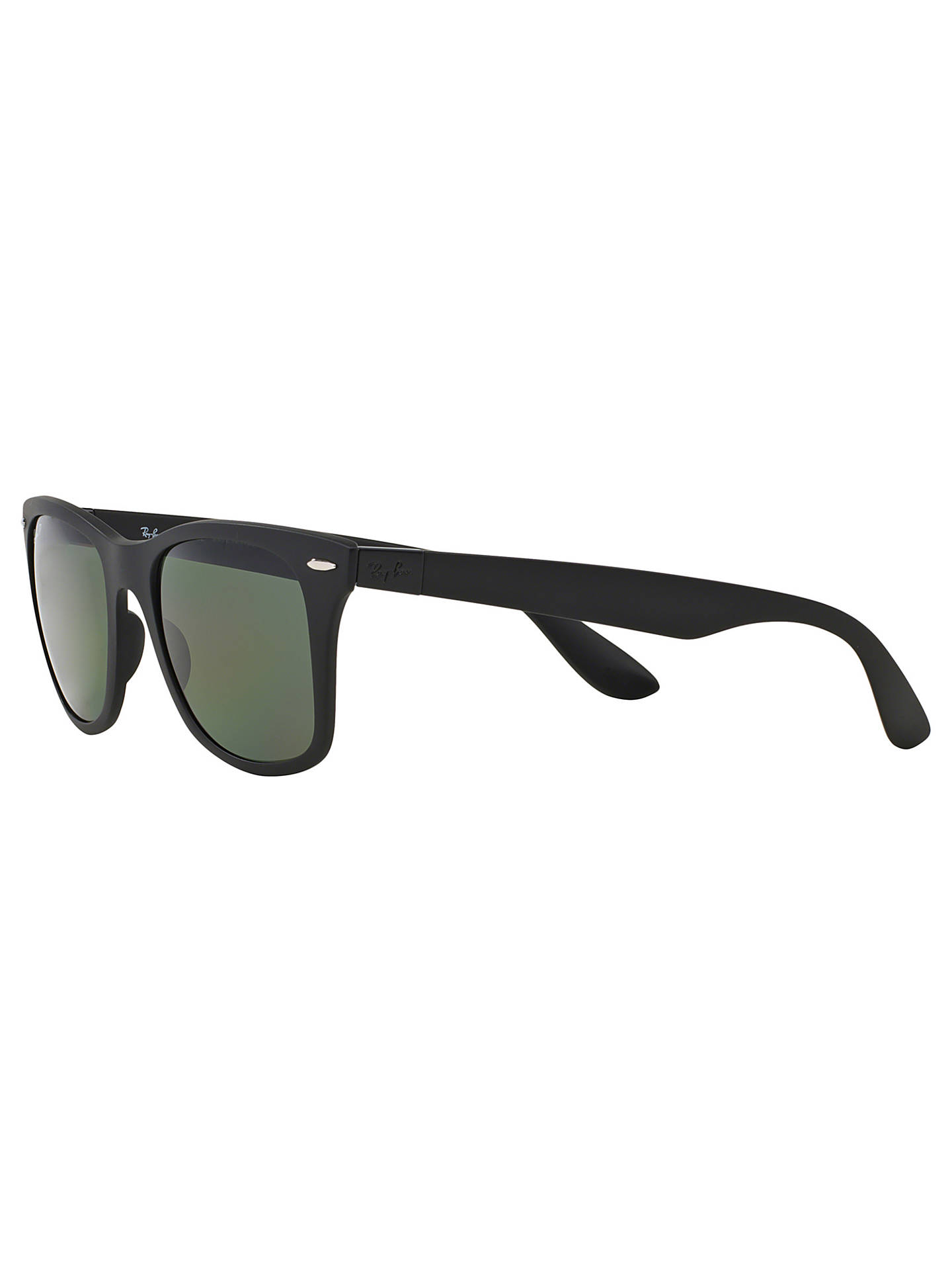 BuyRay-Ban RB4195 Polarised Lite Force Wayfarer Sunglasses, Matte Black/Dark Green Online at johnlewis.com
