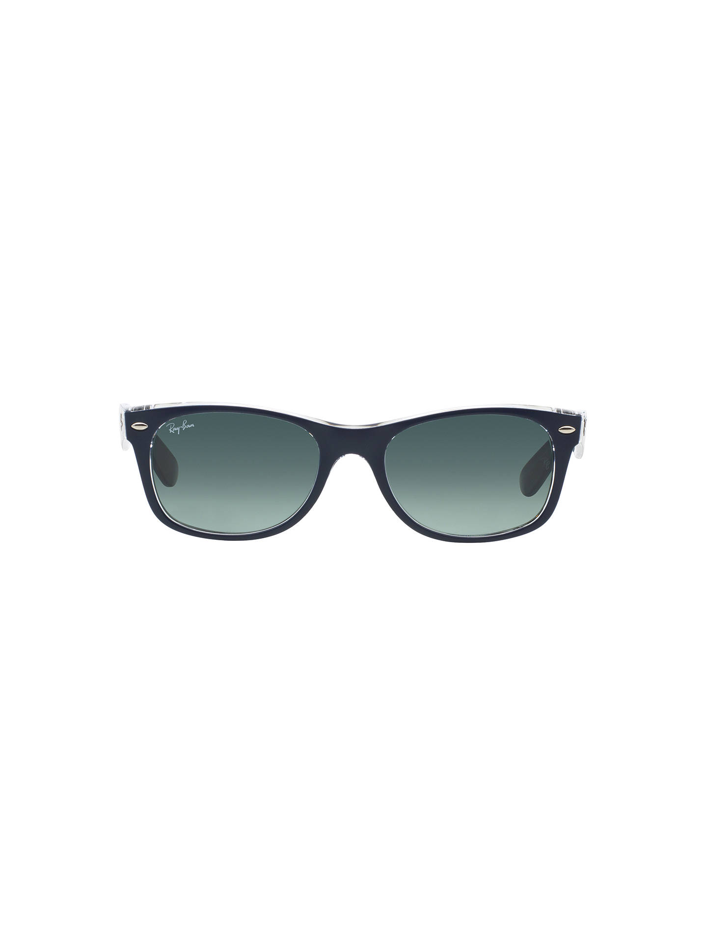 BuyRay-Ban RB2132 New Wayfarer Colour Mix Sunglasses, Navy Clear/Blue Gradient Online at johnlewis.com