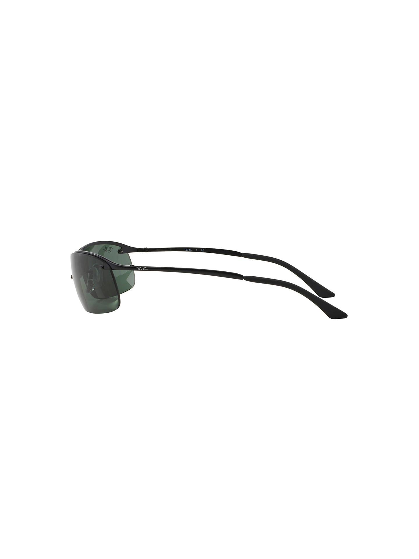3bc9dcd68c998d ... BuyRay-Ban RB3183 Top Bar Lifestyle Rectangular Sunglasses, Black Green  Online at johnlewis ...