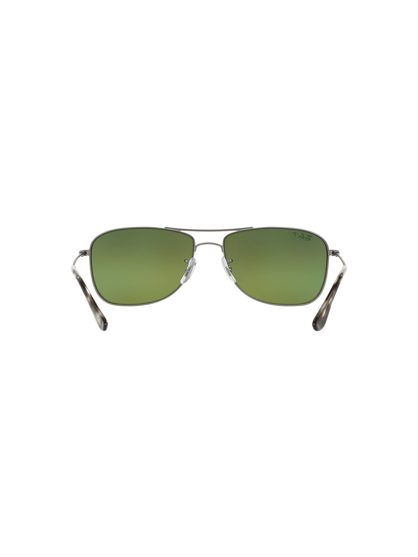 BuyRay-Ban RB3543 Polarised Aviator Sunglasses, Grey/Mirror Green Online at johnlewis.com