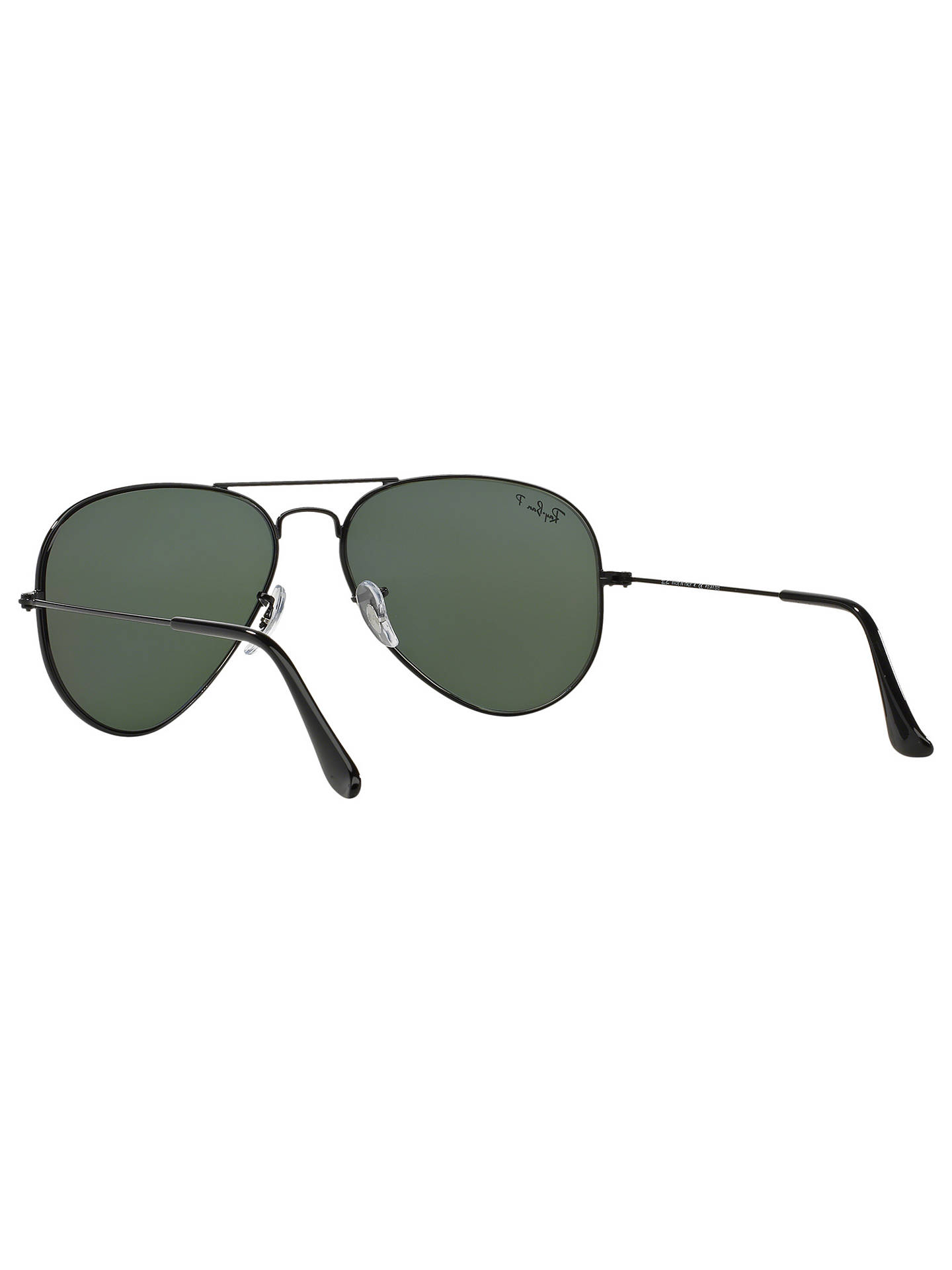 BuyRay-Ban RB3025 Polarised Aviator Sunglasses, Black Online at johnlewis.com