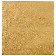 Buy Talking Tables Party Porcelin Embossed Napkins, Pack of 20, Gold Online at johnlewis.com