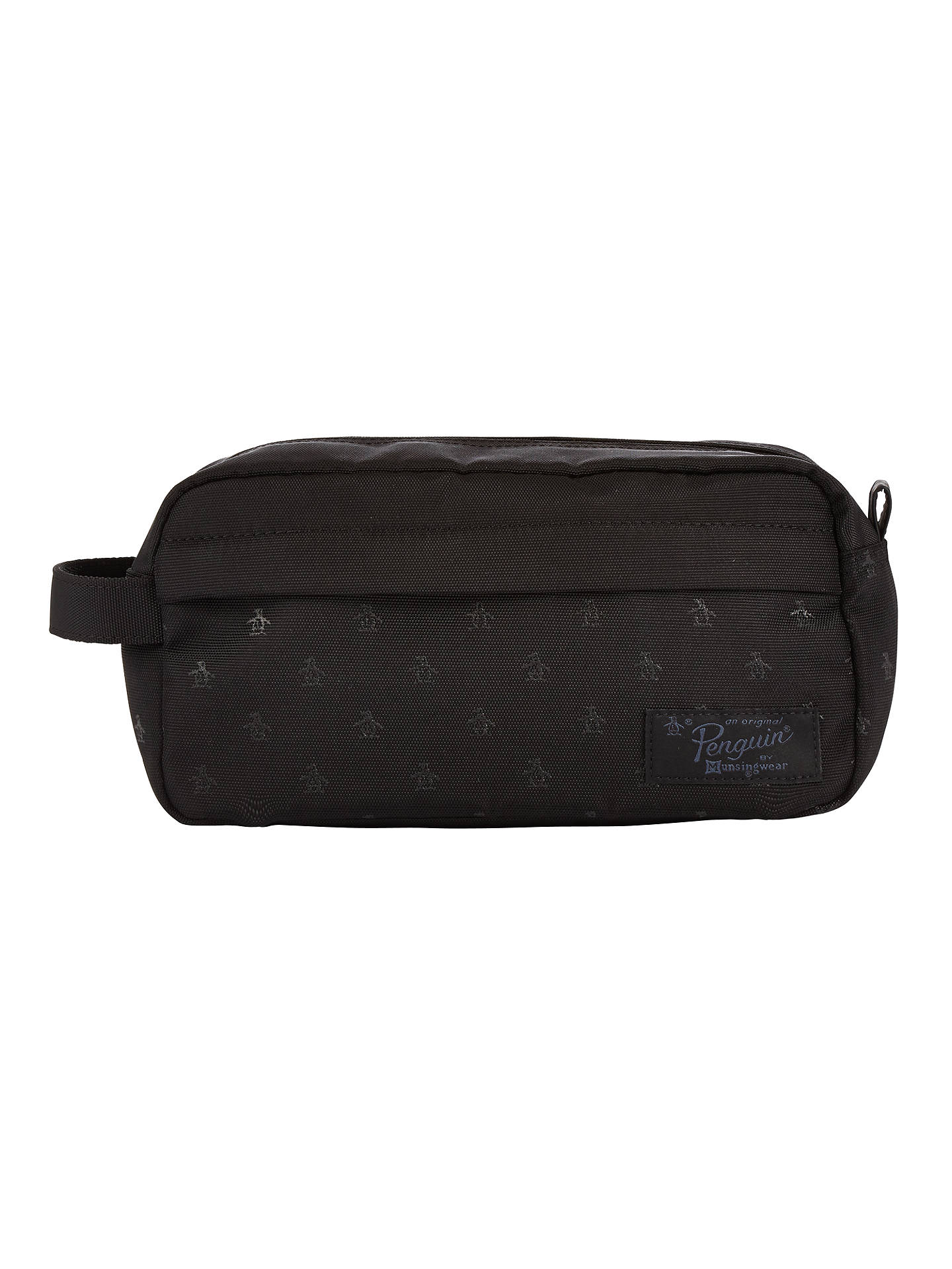 0b4829bd617 Buy Original Penguin Print Wash Bag, Black Online at johnlewis.com ...