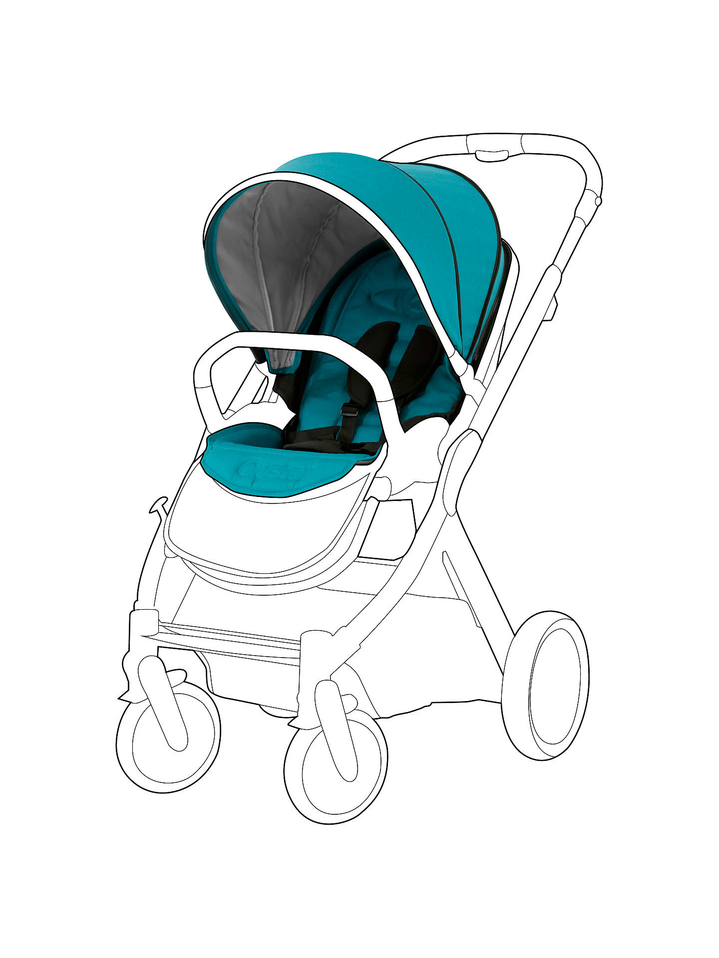 BabyStyle Oyster 2 and Oyster Max Pushchair Colour Pack, Deep Topaz