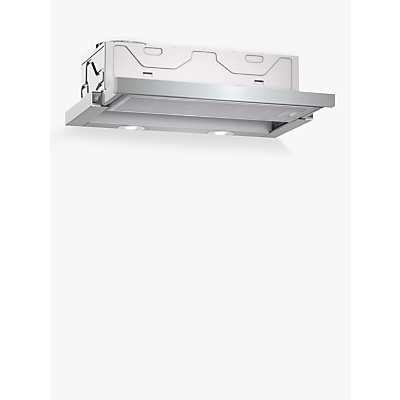 Image of Neff D46BR22N0B 60cm Telescopic Cooker Hood, C Energy Rating, Silver