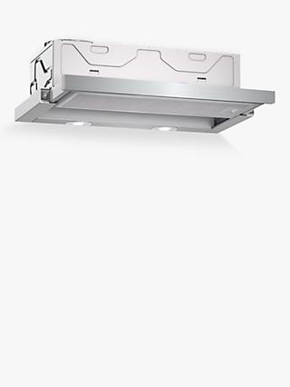 Neff D46BR22N0B 60cm Telescopic Cooker Hood, C Energy Rating, Silver