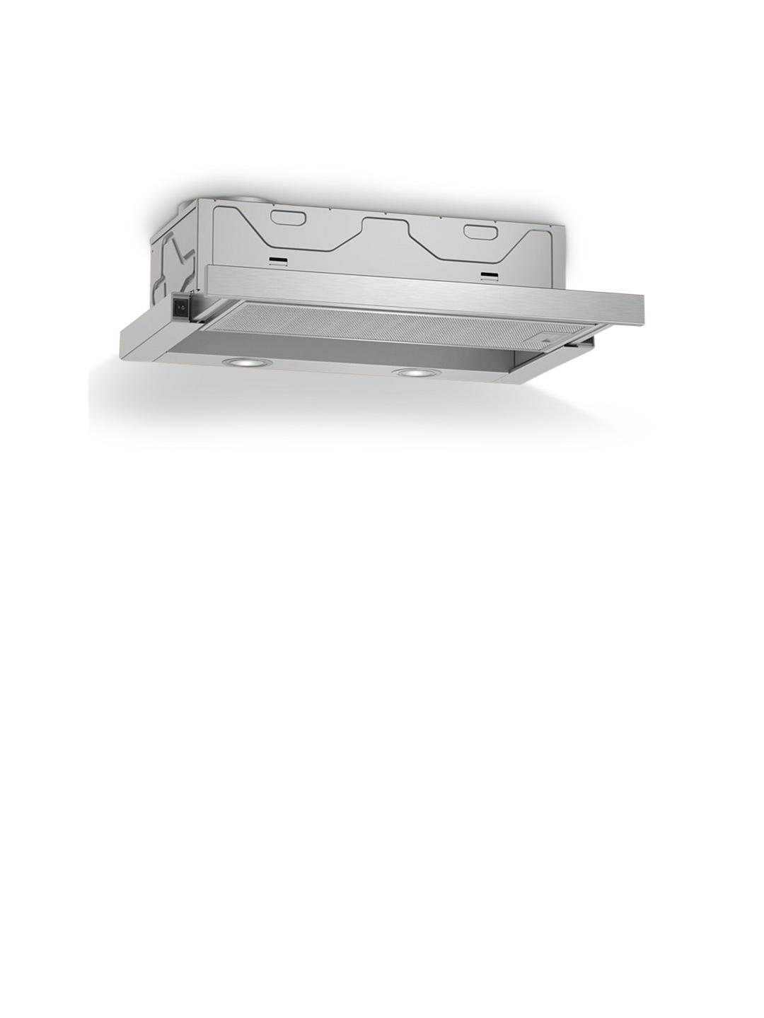 Buy Neff D46BR22N0B 60cm Telescopic Cooker Hood, C Energy Rating, Silver Online at johnlewis.com