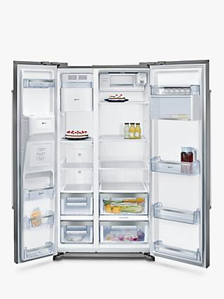 Neff KA3902I20G American Style Fridge Freezer, A+ Energy Rating, 90cm Wide, Stainless Steel
