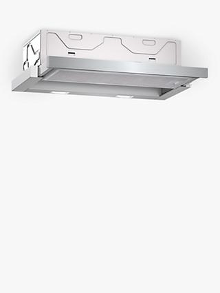 Neff D46ED22N0B 60cm Integrated Cooker Hood, A Energy Rating, Silver