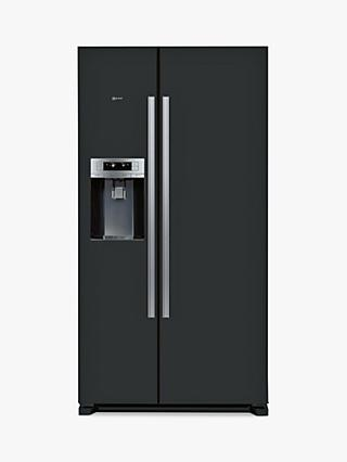 Neff KA3902B20G American Style Fridge Freezer, A+ Energy Rating, 91cm Wide, Black