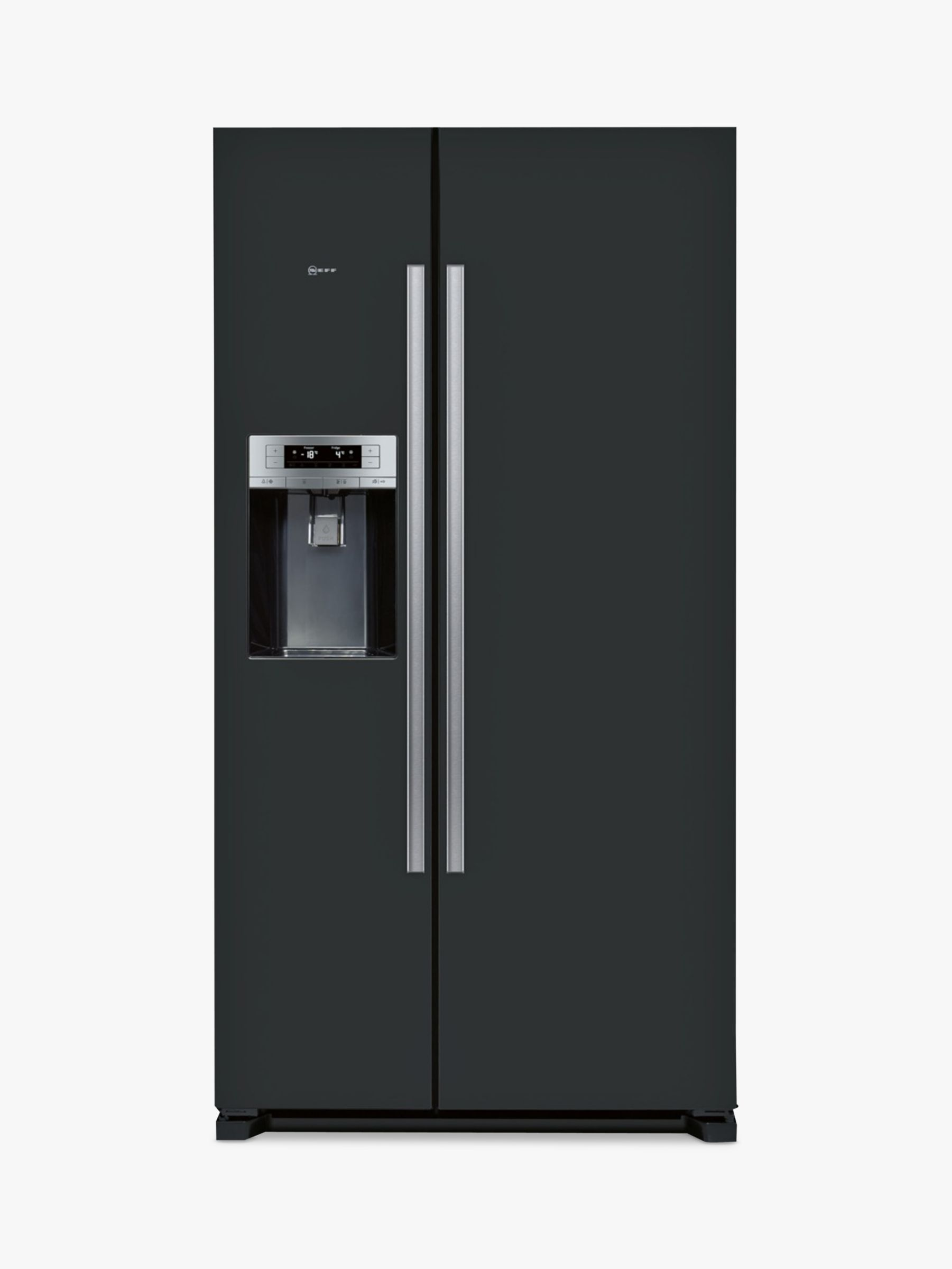NEFF Neff KA3902B20G American Style Fridge Freezer, A+ Energy Rating, 91cm Wide, Black