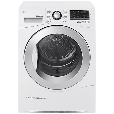 LG RC9055AP2F Heat Pump Tumble Dryer, 9kg Load, A++ Energy Rating, White