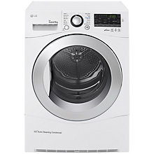 Buy LG RC9055AP2F, Condenser Tumble Dryer, 9kg Load, A++ Energy Rating, White Online at johnlewis.com