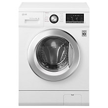 Buy LG FH4G6TDY2 Freestanding Washing Machine, 8kg Load, A+++ Energy Rating, 1400rpm Spin, White Online at johnlewis.com
