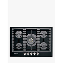 Buy KitchenAid KHGD5 Integrated Gas Hob, Black / Inox Online at johnlewis.com
