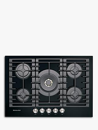 KitchenAid KHGD5 Integrated Gas Hob, Black / Inox