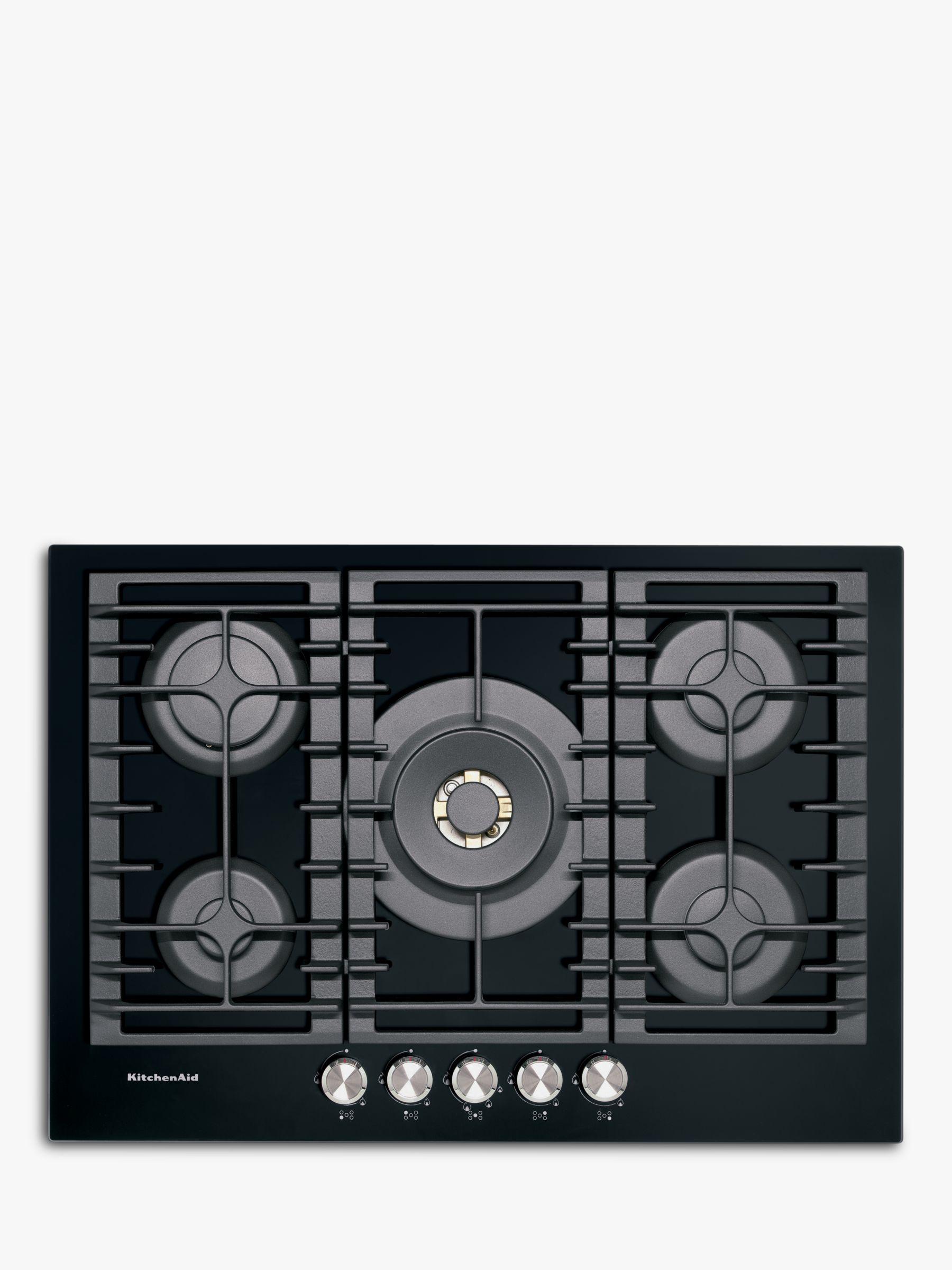 KitchenAid KitchenAid KHGD5 Integrated Gas Hob, Black / Inox