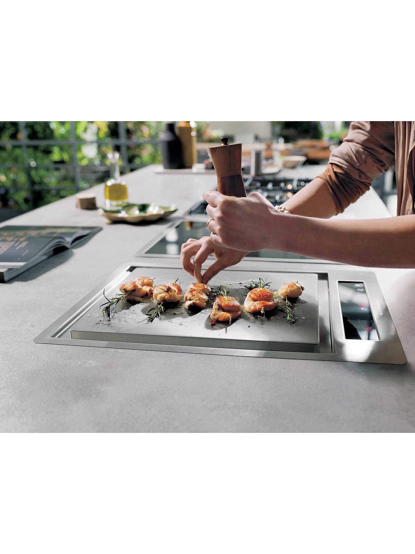 Buy KitchenAid KHTD238510 Induction Teppan Yaki Cooktop, Stainless Steel Online at johnlewis.com