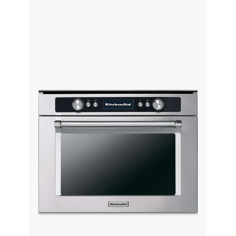 Kitchenaid Kmqcx45600 Built In Multifunction Microwave Oven Stainless Steel Online At Johnlewis