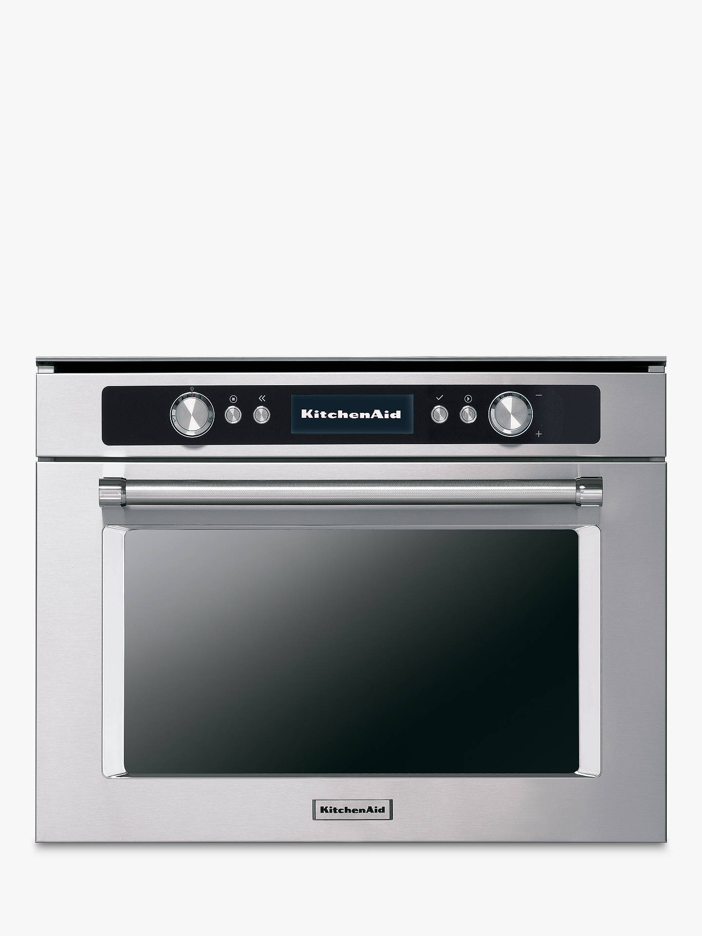 BuyKitchenAid KMQCX45600 Built-in Multifunction Microwave Oven, Stainless Steel Online at johnlewis.com