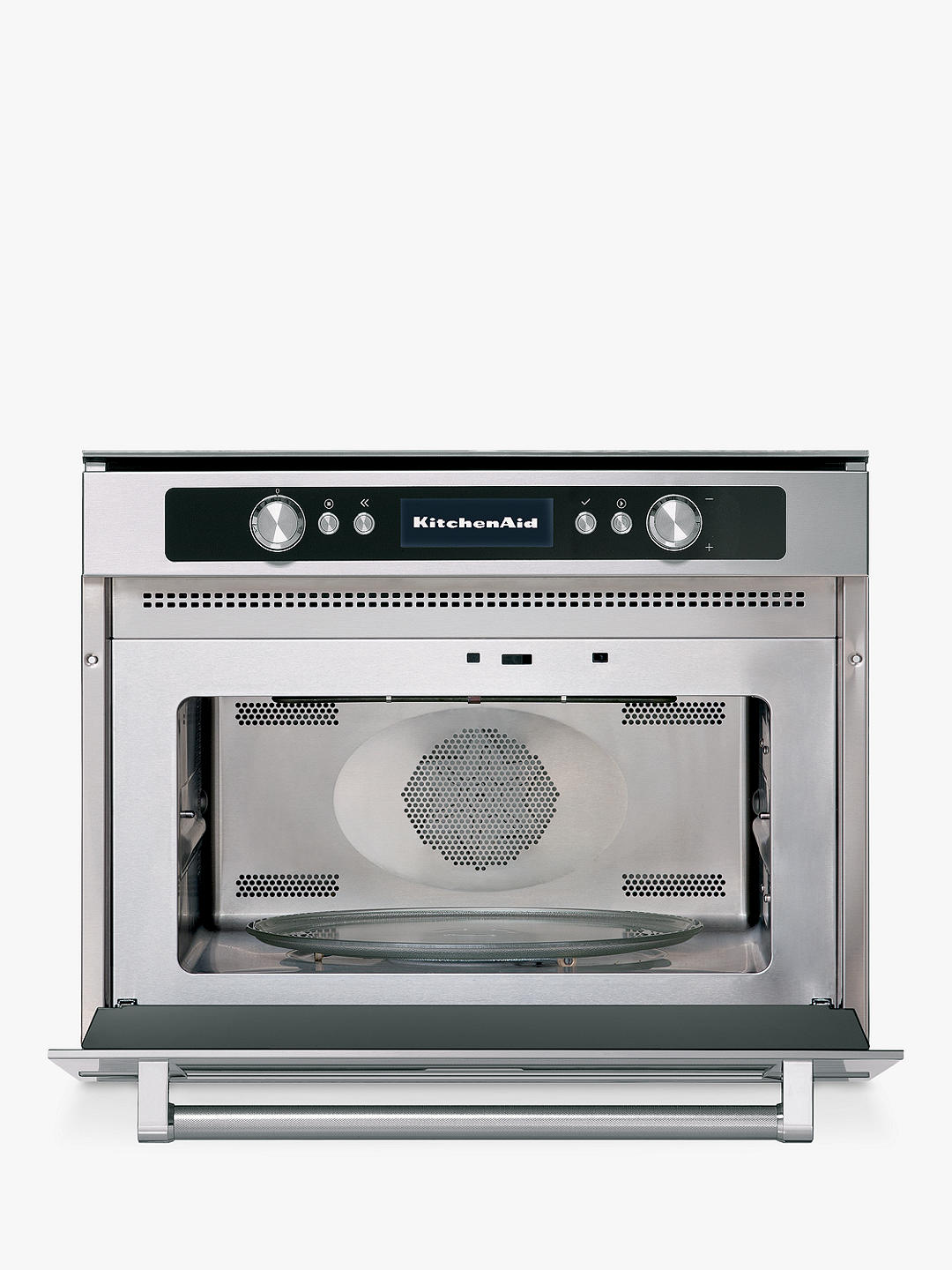 Buy KitchenAid KMQCX45600 Built-in Multifunction Microwave Oven, Stainless Steel Online at johnlewis.com