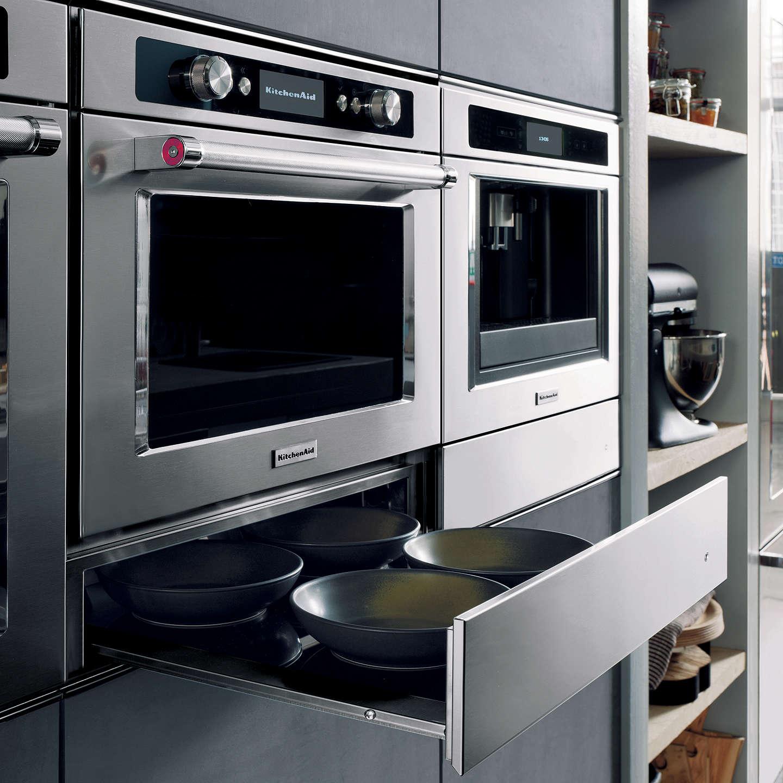 ... BuyKitchenAid KMQCX45600 Built In Multifunction Microwave Oven,  Stainless Steel Online At Johnlewis.com ...