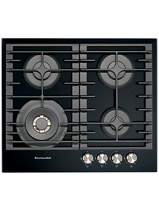 KitchenAid KHGD4 Integrated Gas Hob, Black