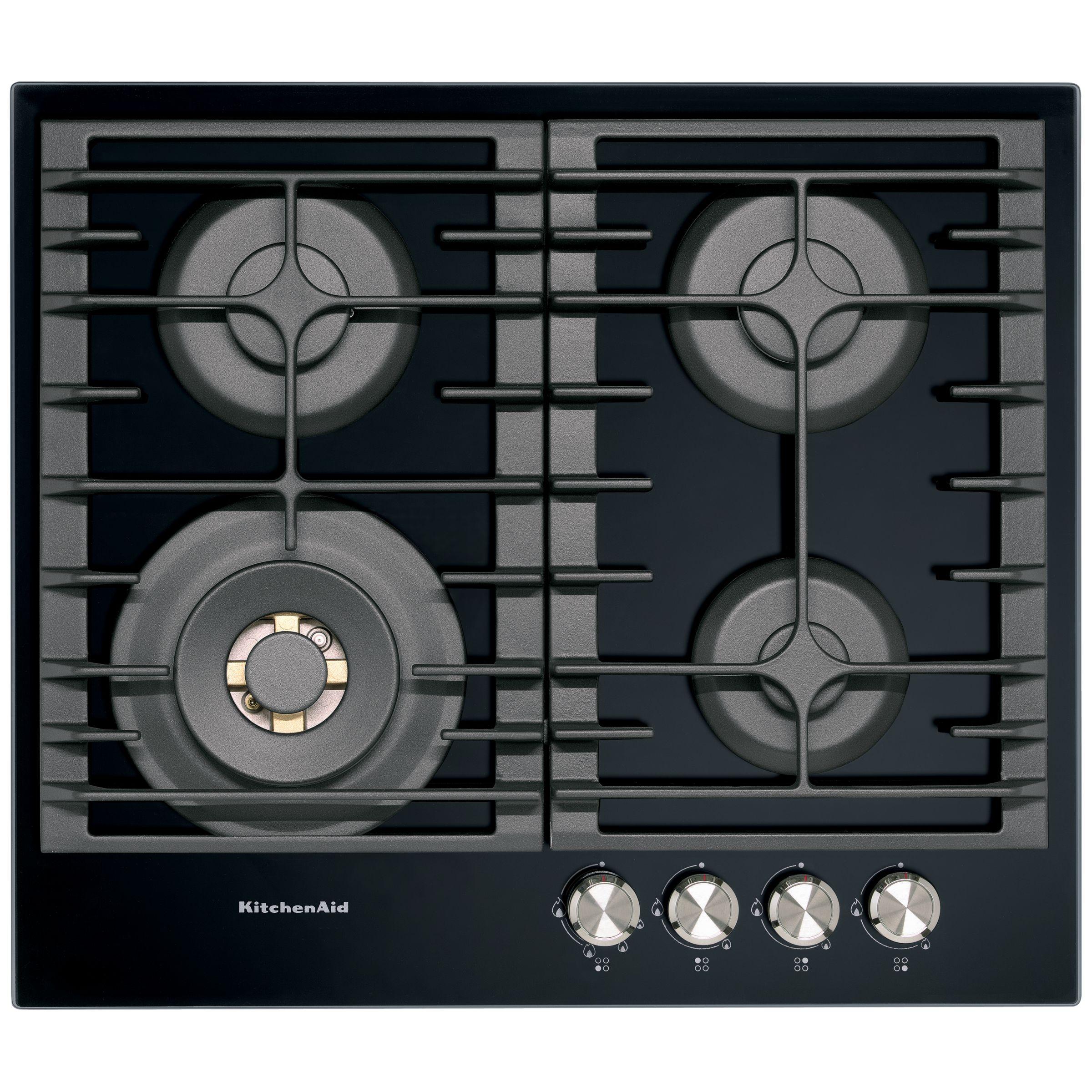 KitchenAid KitchenAid KHGD4 Integrated Gas Hob, Black