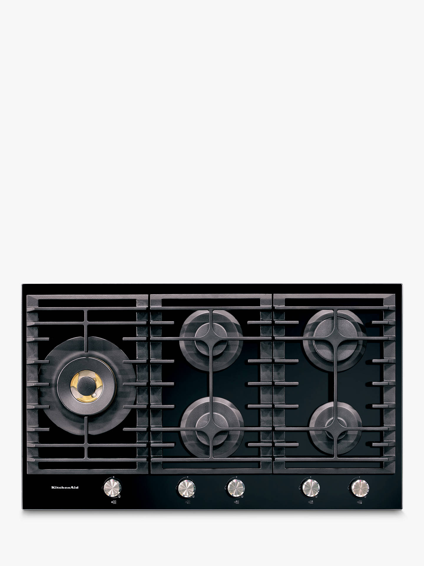 BuyKitchenaid KHGD5 Integrated Gas Hob, Black Online at johnlewis.com