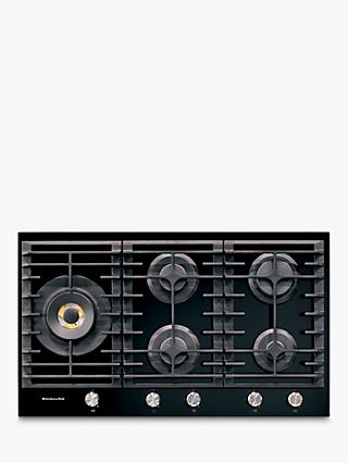 Kitchenaid KHGD5 Integrated Gas Hob, Black