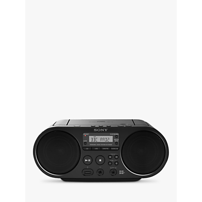 Sony ZSPS55B DAB/FM CD Boombox With USB Playback, Black