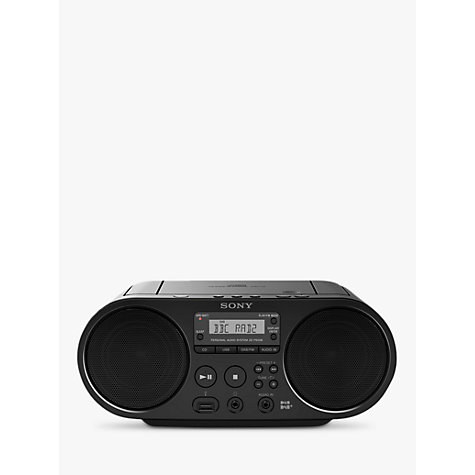 buy sony zsps55b dab fm cd boombox with usb playback. Black Bedroom Furniture Sets. Home Design Ideas
