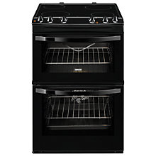 Buy Zanussi ZCV68010BA Electric Cooker, Black Online at johnlewis.com