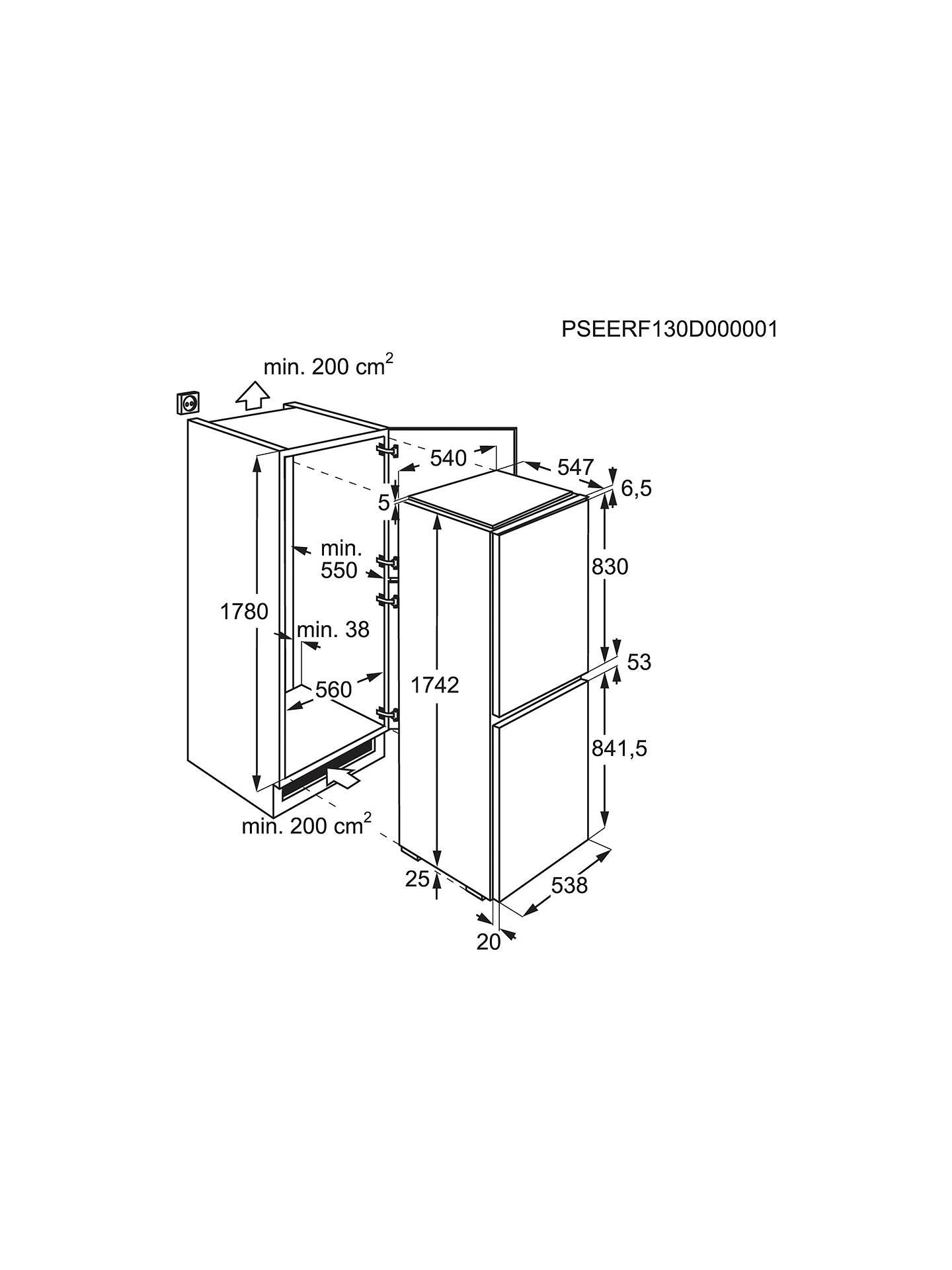 AEG SCS51810S1 Integrated Fridge Freezer, A+ Energy Rating