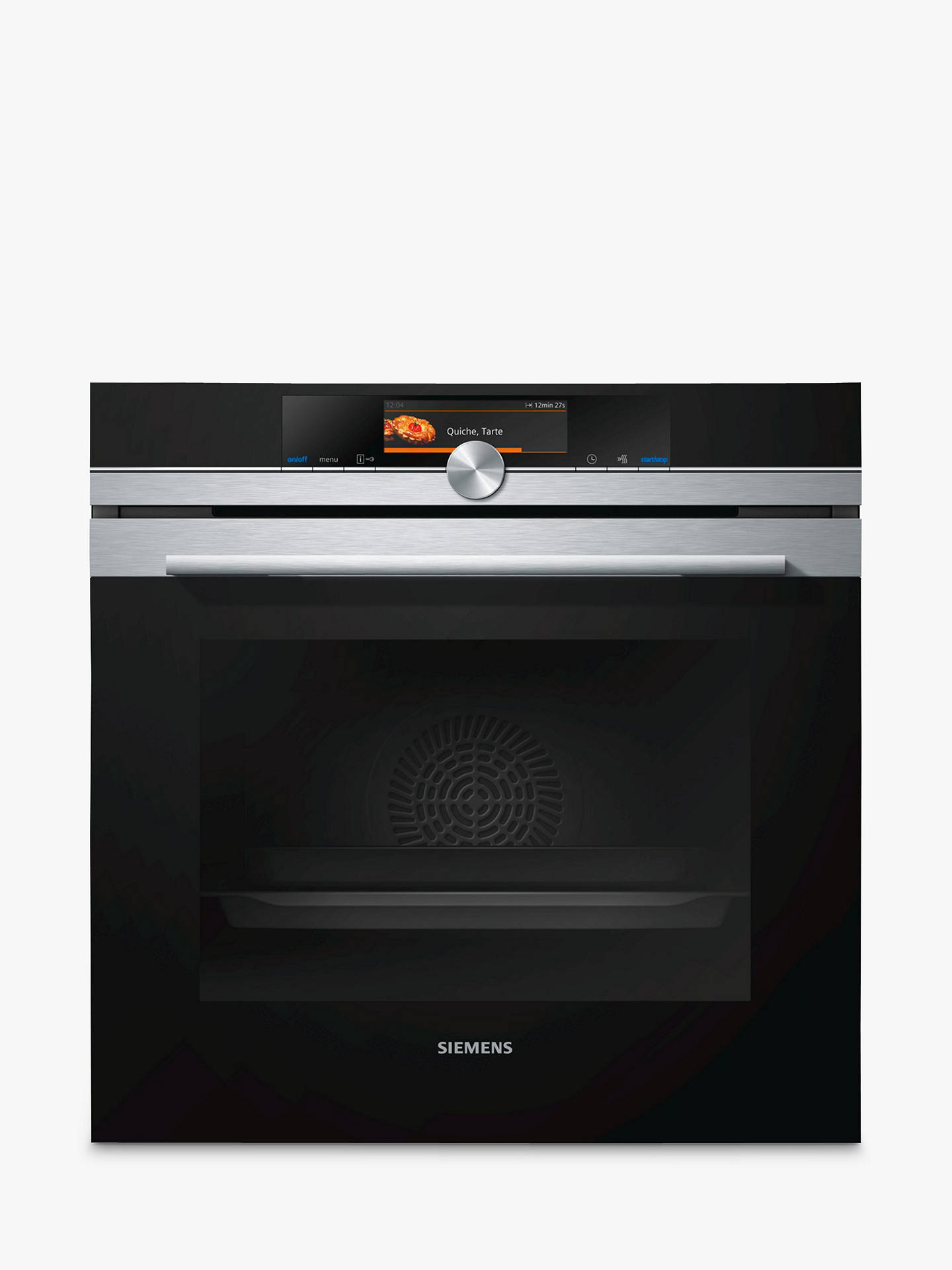 siemens hb678gbs6b single oven with home connect, stainless steel at