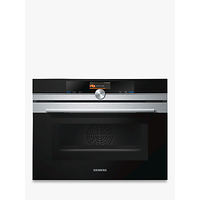 Siemens CM676GBS6B Built-in Microwave Oven with Home Connect, Stainless Steel