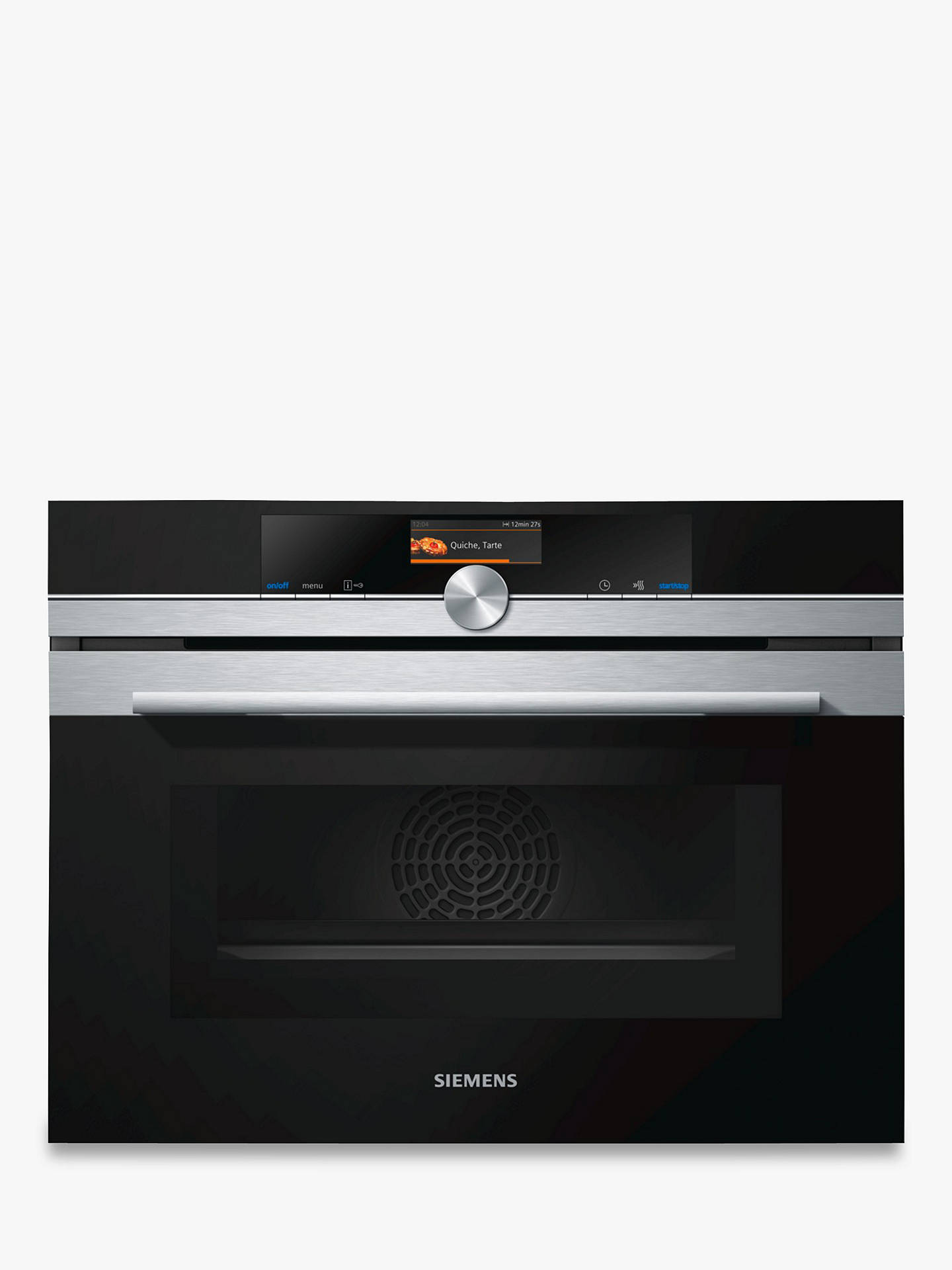 2ce7f11991b Siemens CM676GBS6B Built-in Microwave Oven with Home Connect ...