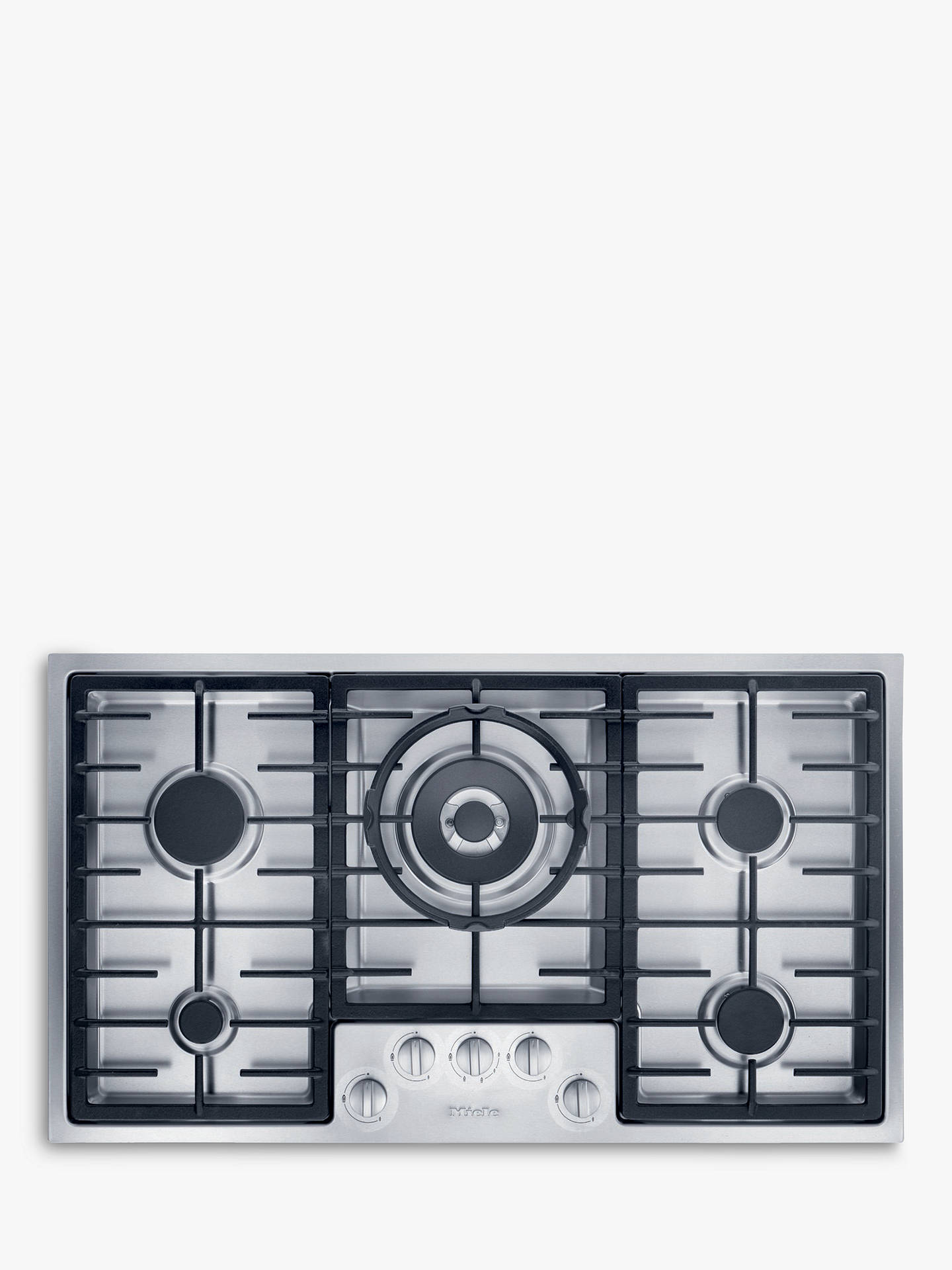 BuyMiele KM2354 Integrated Gas Hob, Stainless Steel Online at johnlewis.com