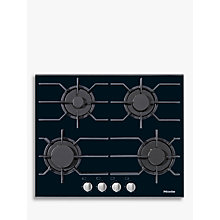 Buy Miele KM3010 Integrated Gas Hob Online at johnlewis.com