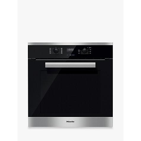 buy miele h2661 1b built in multifunction single oven brushed steel lewis