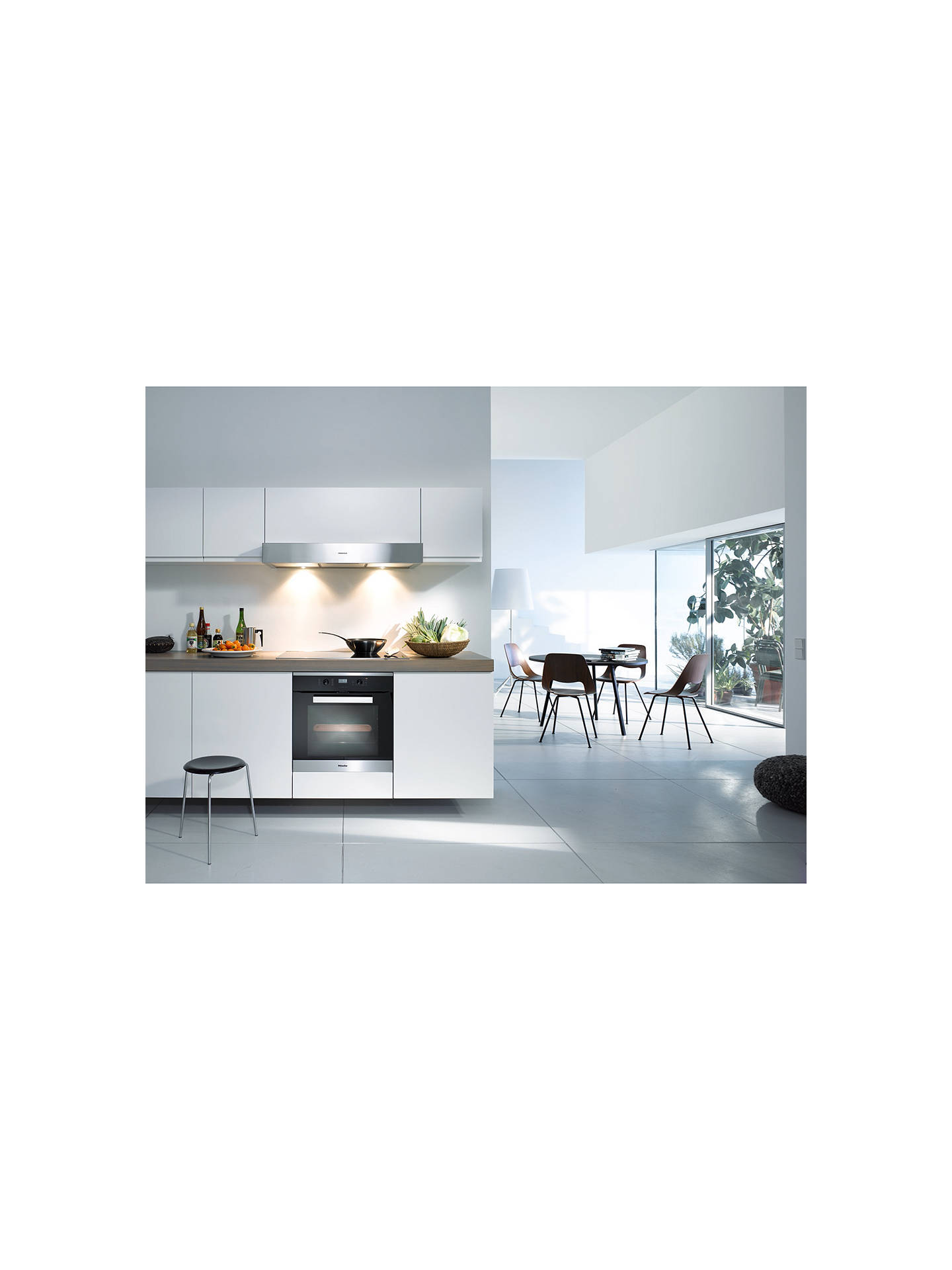 BuyMiele H2661-1B Built-In Multifunction Single Oven, Brushed Steel Online at johnlewis.com