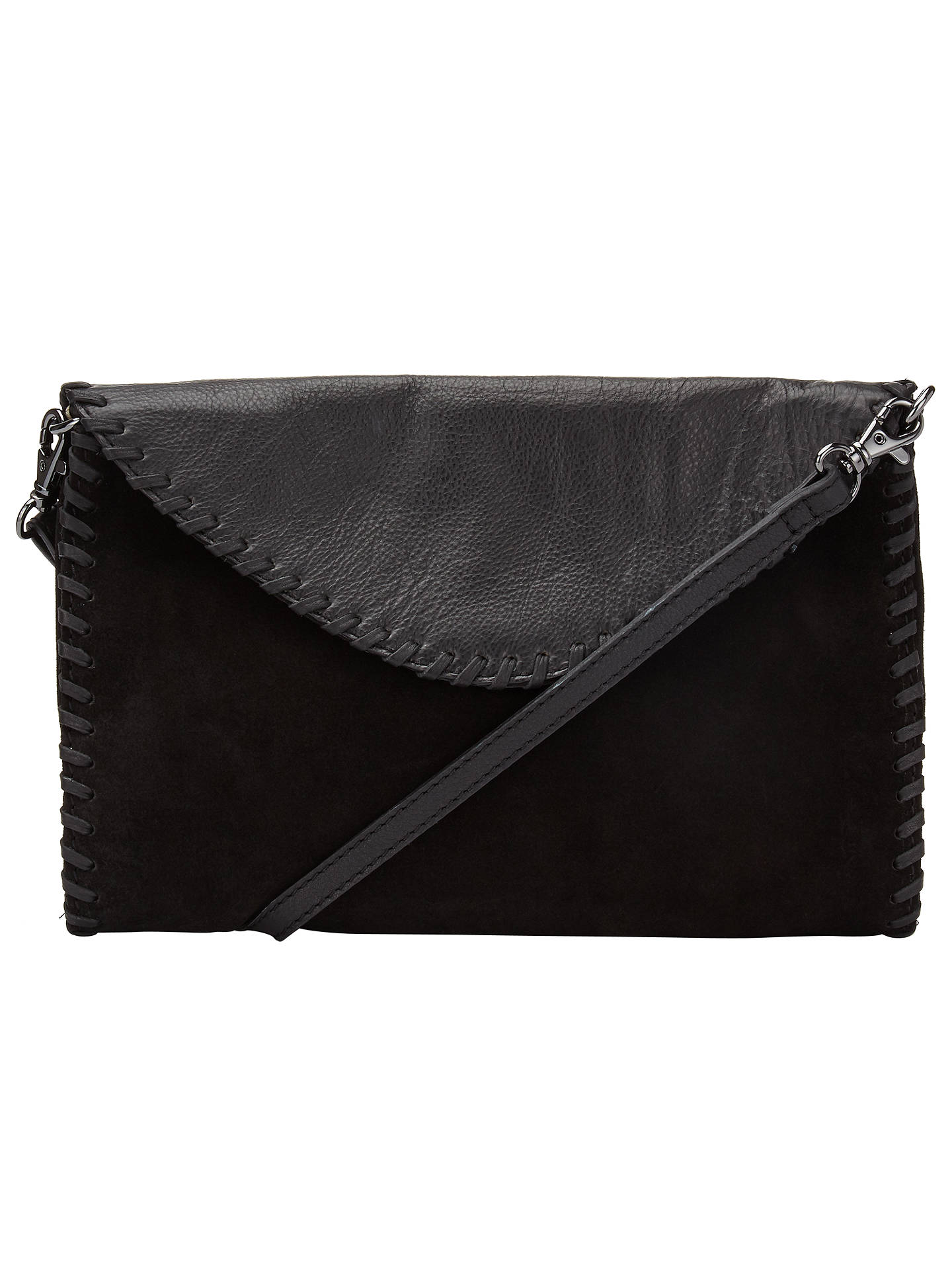 Pieces Gesma Suede Across Body Bag Black Online At Johnlewis